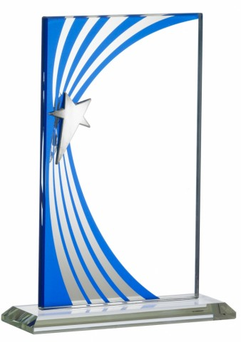 Blue Wave Glass Award. 3 Sizes available