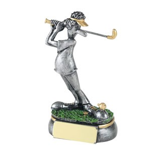 Off the Toe Fun Golf Trophy