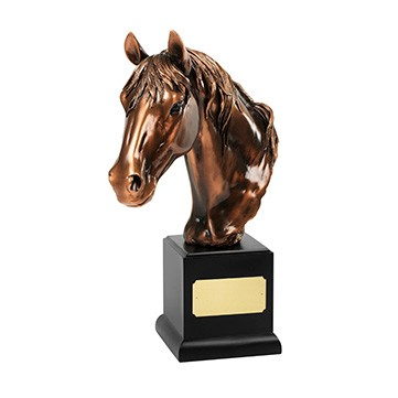 Large Bronze Plated Horses Head Award