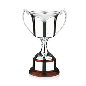 Hallmarked Sterling Silver Trophy Cup. 11.25 inches tall.