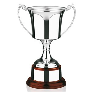 Hallmarked Sterling Silver Trophy Cup. 17 inches tall.