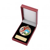 Red Leatherette Medal Box for 50mm Medals