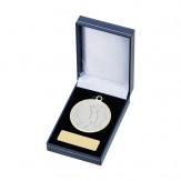 Blue Leatherette Medal Box for 50mm Medals