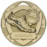 Running Themed 50mm Gold Medal G800