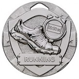 Running Themed 50mm Silver Medal