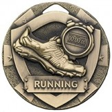Running Themed 50mm Bronze Medal G802