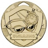 Swimming Themed 50mm Gold Medal G810