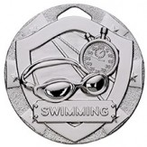 Swimming Themed 50mm Silver Medal