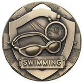 Swimming Themed 50mm Bronze Medal G812
