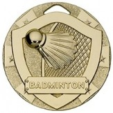 Badminton Themed 50mm Gold Medal G820