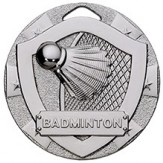 Badminton Themed 50mm Silver Medal G821
