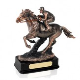 """Copper Plated Horse Racing Award. 7.5"""""""