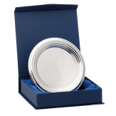 Classic Ringed Nickel Plated Salver With Presentation Box. 4 Sizes!