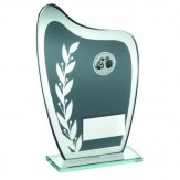 Grey/Silver Glass Rugby Award TD929- 3 sizes