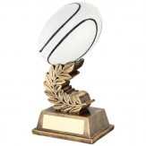White/Gold Resin Rugby Award RF424 - 3 Sizes