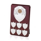 Perpetual Plaque With Shield Fronts 8""