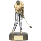 Solid Resin Golfing Trophy. 18cm. RG025A