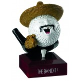 "Solid Resin Golfing Award. ""The Bandit"" 12cm RG09A"