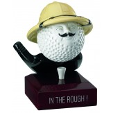 """Solid Resin Golfing Award. """"In The Rough"""" 12cm RG09B"""