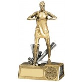 Female Netball Figurine Award 19cm.