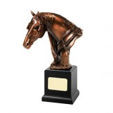 Bronze Plated Horse Head Award. 11.5""