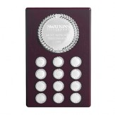 "Perpetual Plaque With Laurel Wreath Fronts 13"" high."