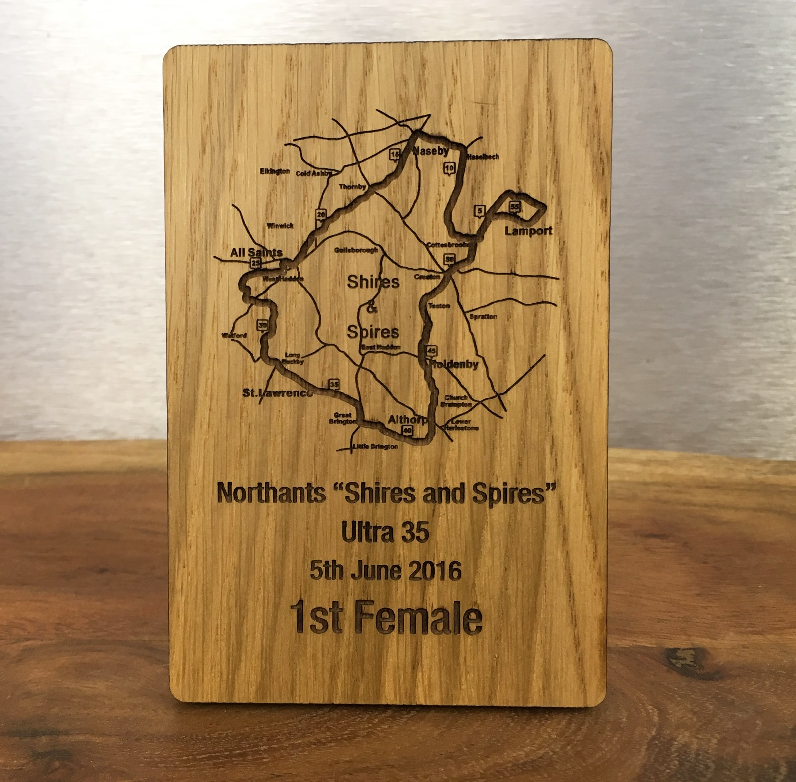 Bespoke Wood/Perspex Trophy