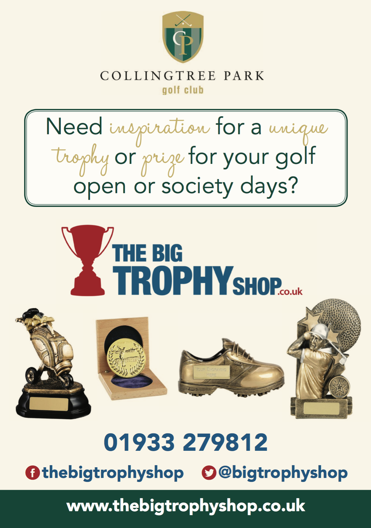 Golf trophies for clubs and societies / the big trophy shop
